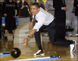 President Obama bowling