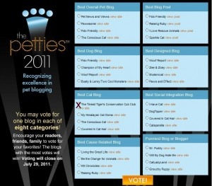 Dogtime's Pet Blog Awards