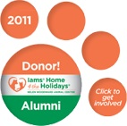 Iams Home 4 the Holidays Donor Alumni Badge