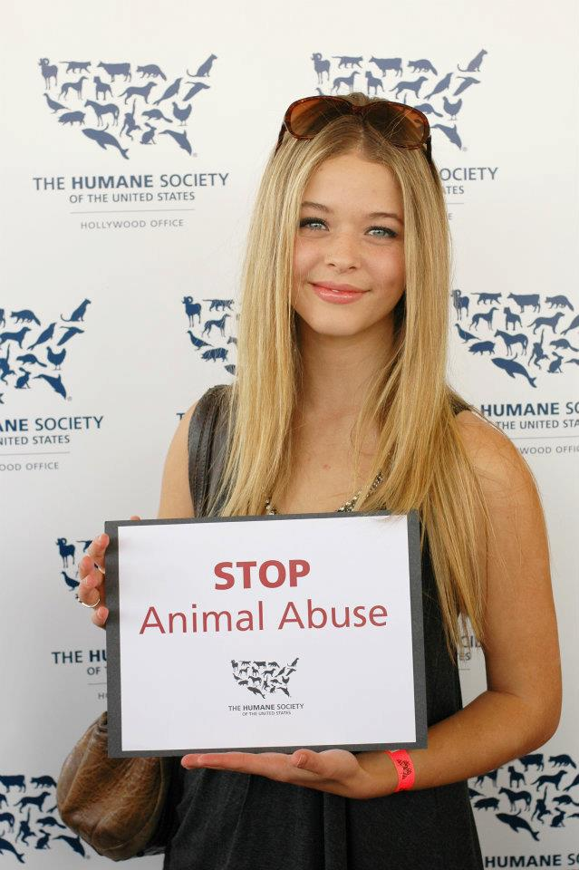 HSUS Sasha Pieterse of Pretty Little Liars