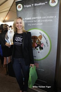 Merrilee from the HSUS with Gracey