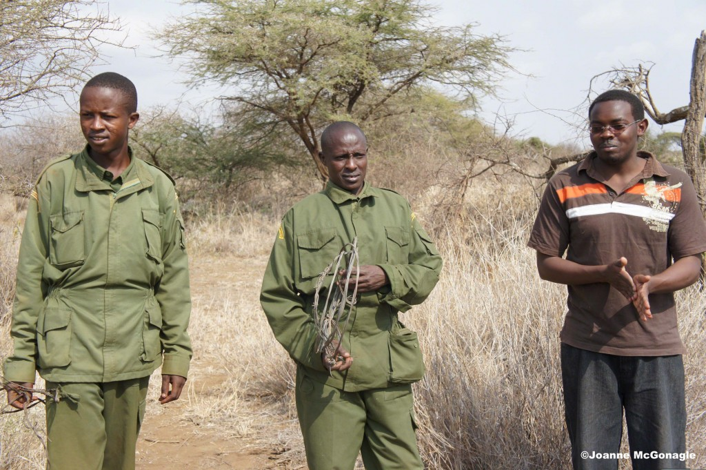 African Conservation Center Scouts with snares