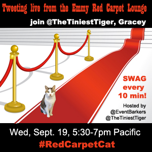 Red Carpet Cat Emmy badge