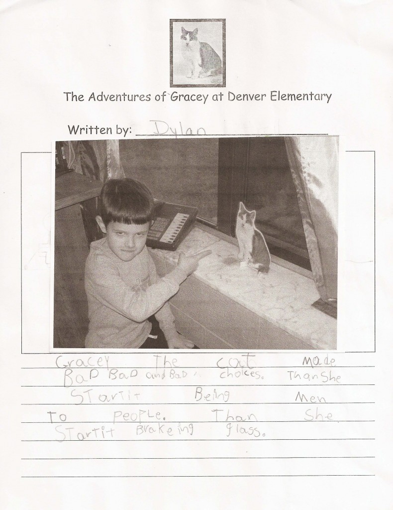 Adventures of Gracey at Denver Elementary by Dylan
