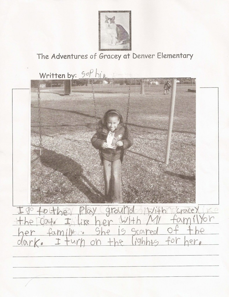Gracey Adventures at Denver Elementary  by Sophia