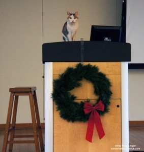 Gracey at the podium Cinti Zoo