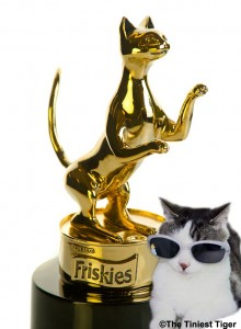 Gracey with Friskies Statue