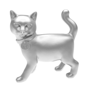 silver monopoly cat