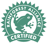 Rainforest Alliance certifeid