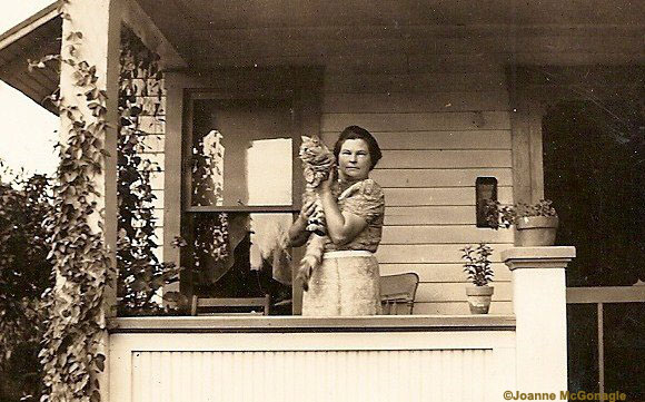 Great Grandmother with her cat