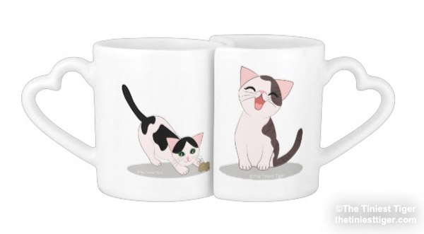 Annie and Eddie mug set together