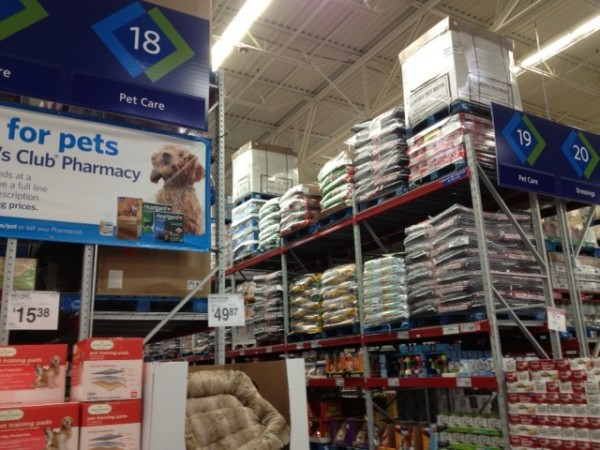 Sams club pet aisle image