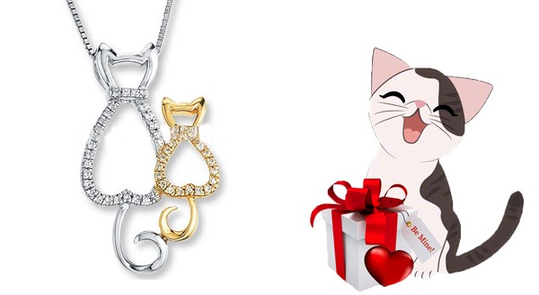 Triple T Studios Happy Together Cat Necklace