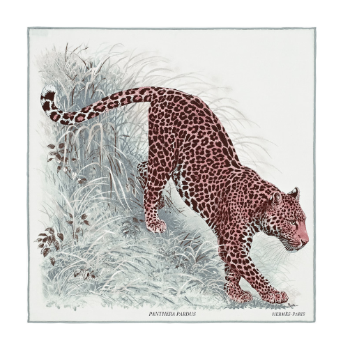 Hermes Panthera Pardus Pocket Square