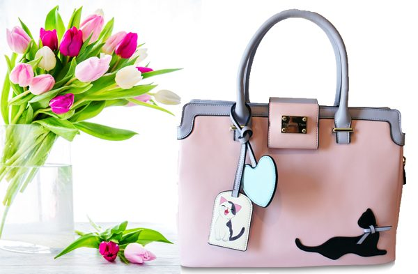 Triple T Studios Pretty in Pink Cat Handbag