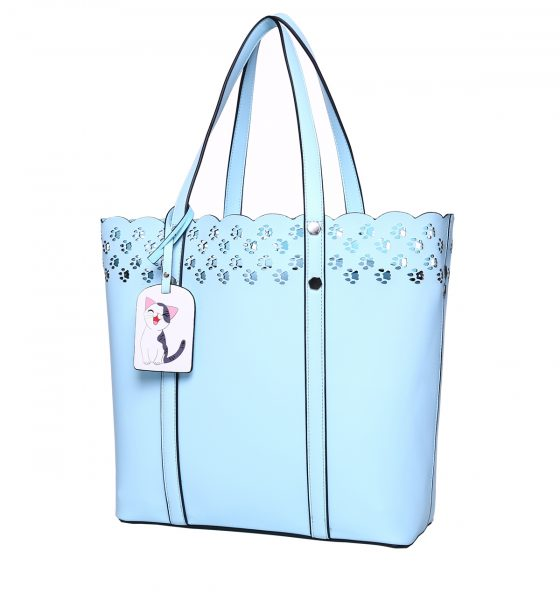 Limpet Shell Blue Cat Paw Lace Tote