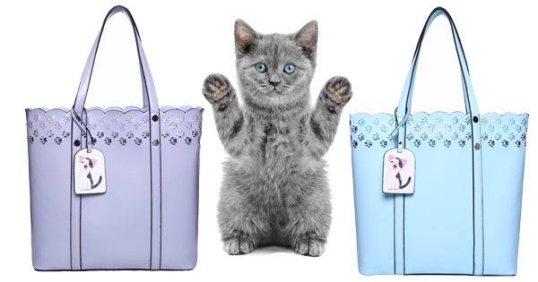 Cat Lace Totes with Kitten in middle