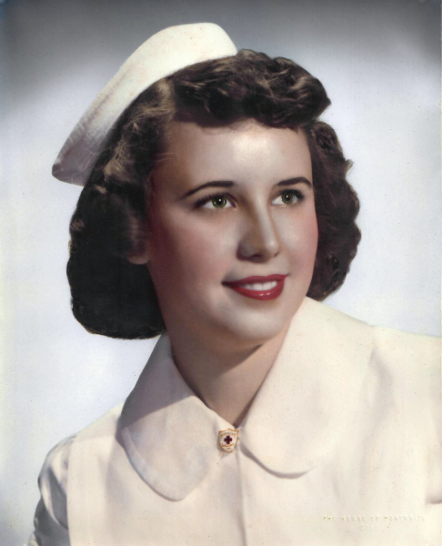 Dorothy Jean Watts in her Nurse's Uniform
