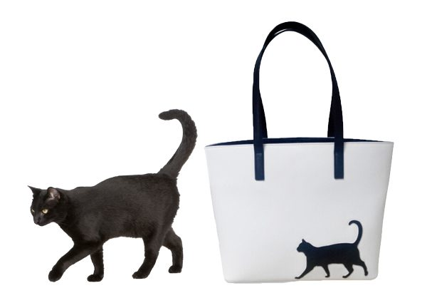 Cat Walk Tote with black cat