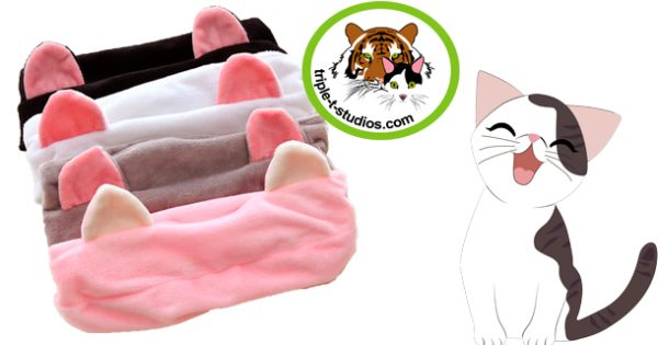 Triple T Studios Fleece Cat Ear Headband