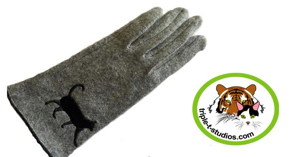 Grey Cat Glove Triple T Studios