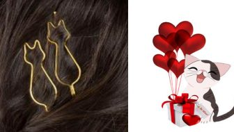 Cat Shaped Hair Pins Giveaway
