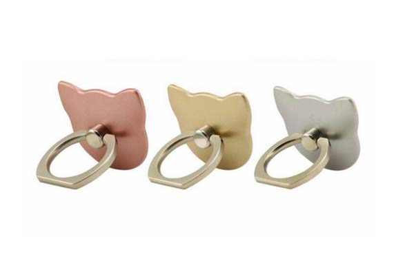 Cat Head Phone Ring Kickstand