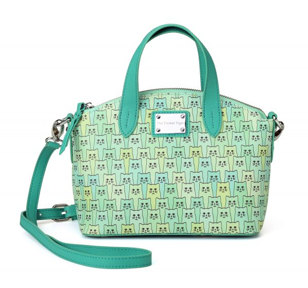 Green Happy Cat Handbag