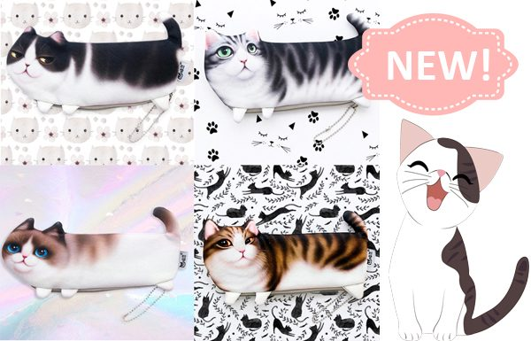 Cute Cat Zippered Pouches Triple T Stuidios