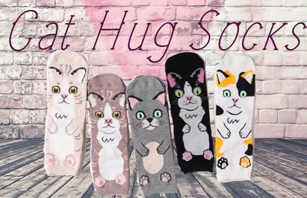 Cat Hug Socks Triple T Studios