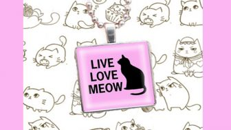 Live Love Meow Cat Necklace Giveaway