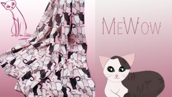 New! Triple T Studios Pink Cat Scarf Giveaway
