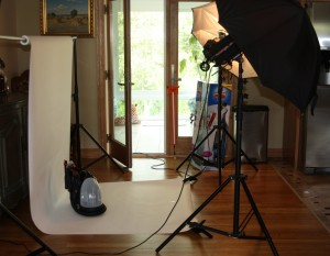 Set up for Bissell Photo Shoot