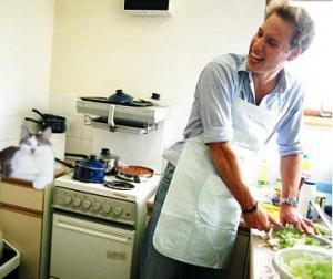 Prince William fixing lunch