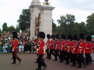 Gracey with the Royal Guard