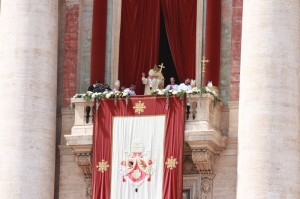 Pope Benedict from the balcony