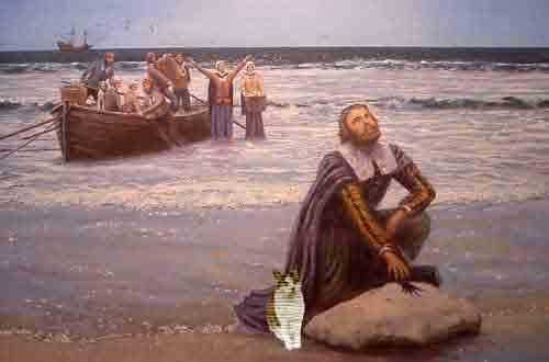 Pilgrim Landing with Gracey
