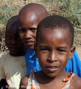 Three Maasai Children