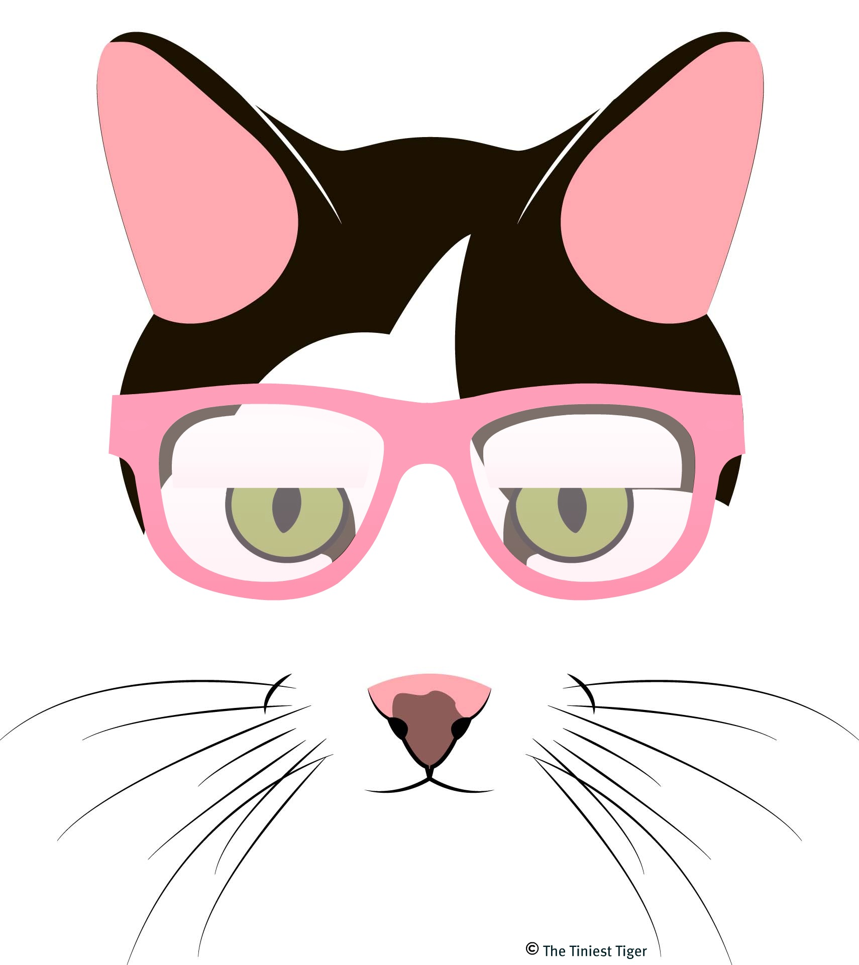 Cat logo with glasses