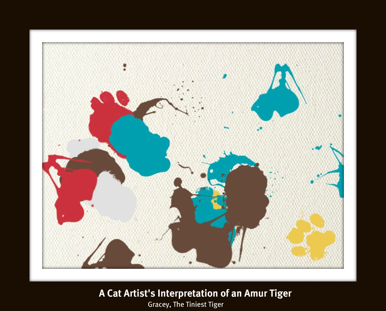 Cat Artist's Interpretation of an  Amur Tiger