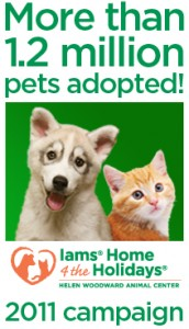 Iams Home 4 the Holidays Pets Adopted 2011