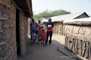 Maasai in their manyatta