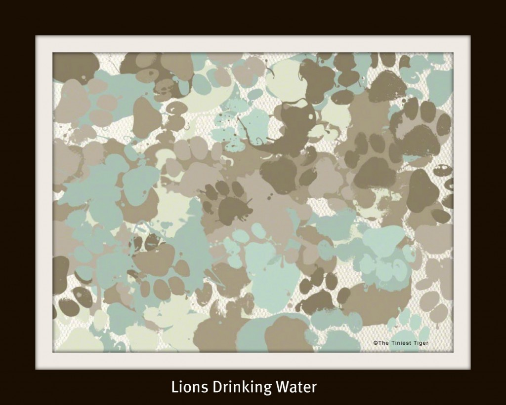 Lions and Water The Tiniest Tiger Painting