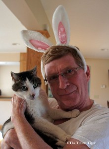 Paul with Rabbit Ears and Gracey