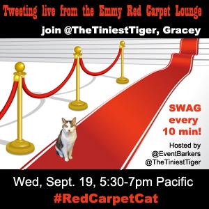 Red Carpet Cat Emmy badge