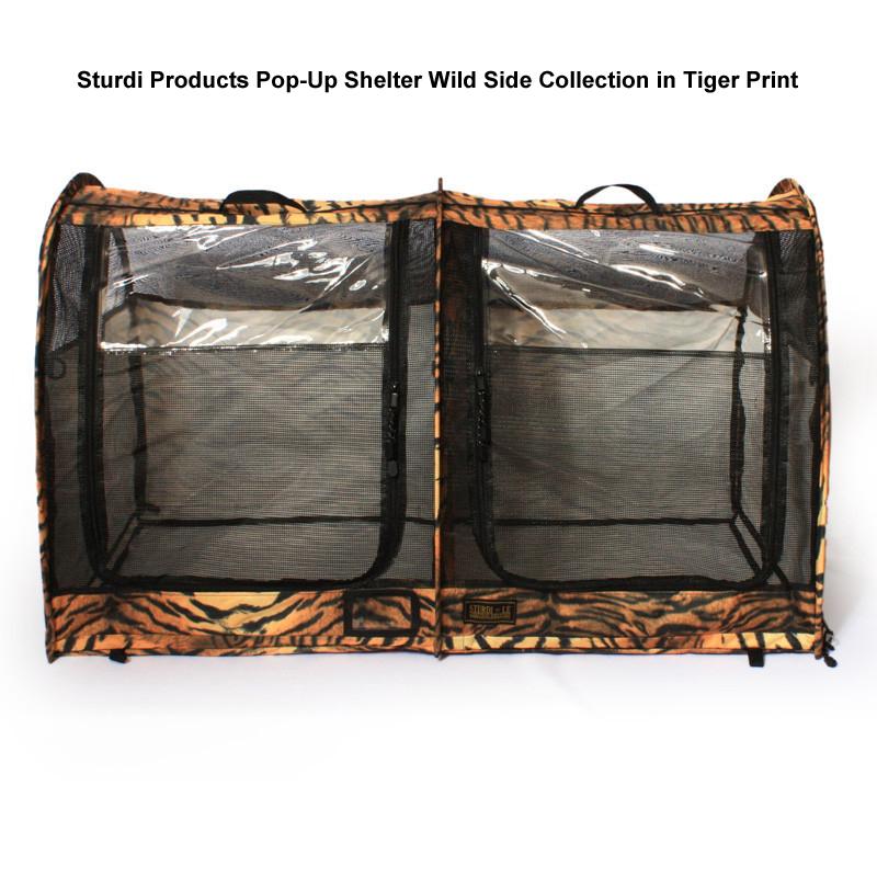 Sturdi Pop-Up shelter in Tiger print