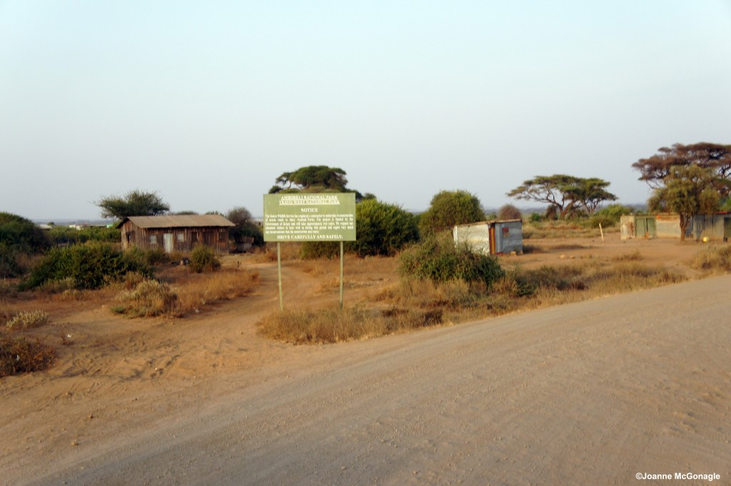 Amboseli National Park Sign