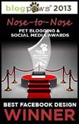 BlogPAws 2013 Winner Badge