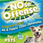 NOse Offense Odor Eliminator Tackles Cat Odors Times 3