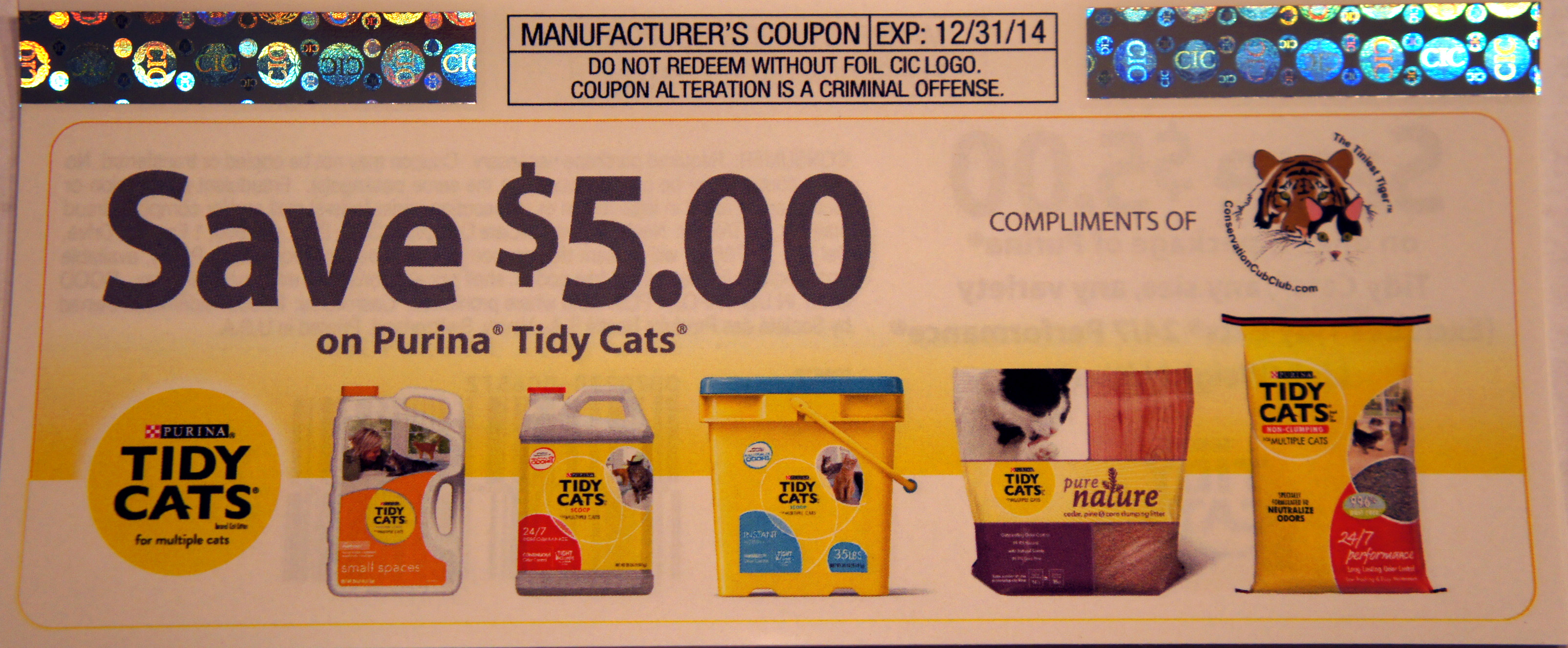 Win $50 in our Tidy Cats Coupons to Help Your Human Giveaway